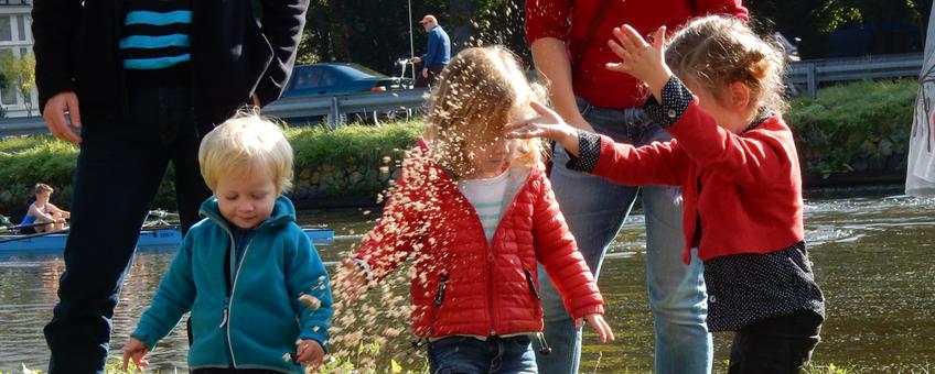 Kinderen zaaien Idylle in Rijswijk