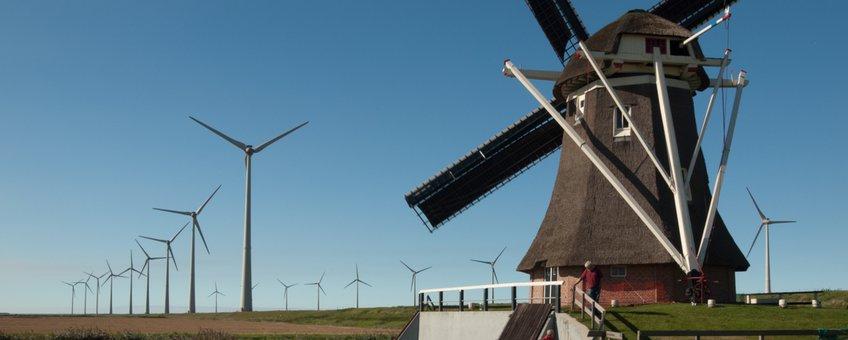 Goliath Poldermolen, Eemshaven, provincie Groningen
