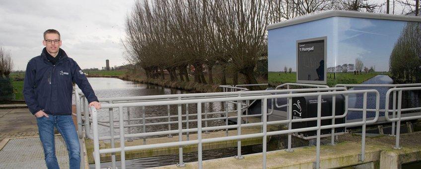 projectbeheerder Reurslag van waterschap HDSR bij vistrap gemaal Polsbroekerdam