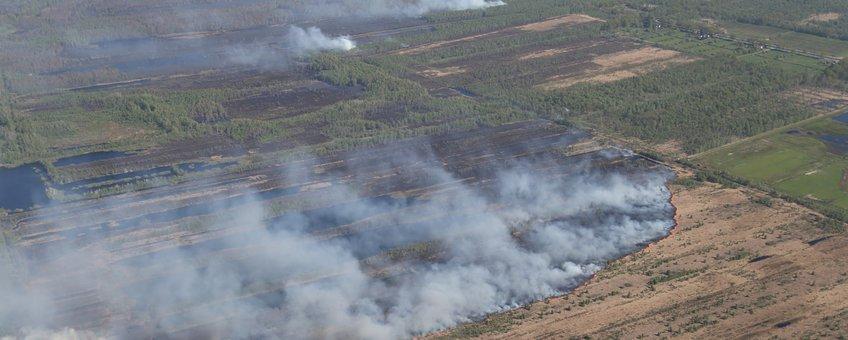 Natuurbrand in de Deurnese Peel, 2020