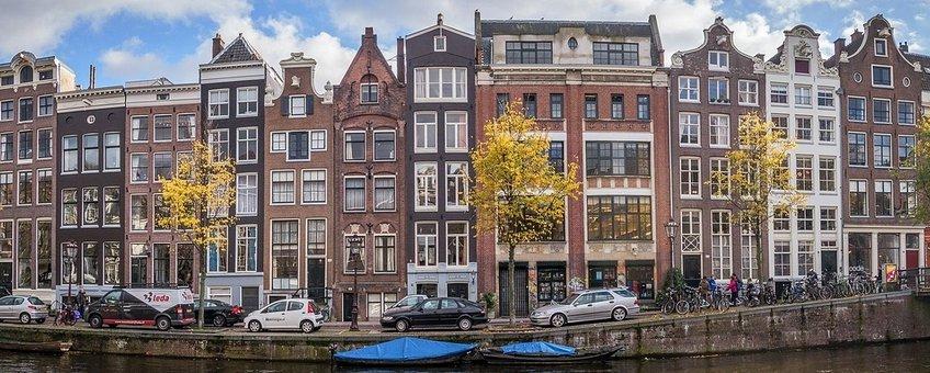 Groen en blauw in Amsterdam