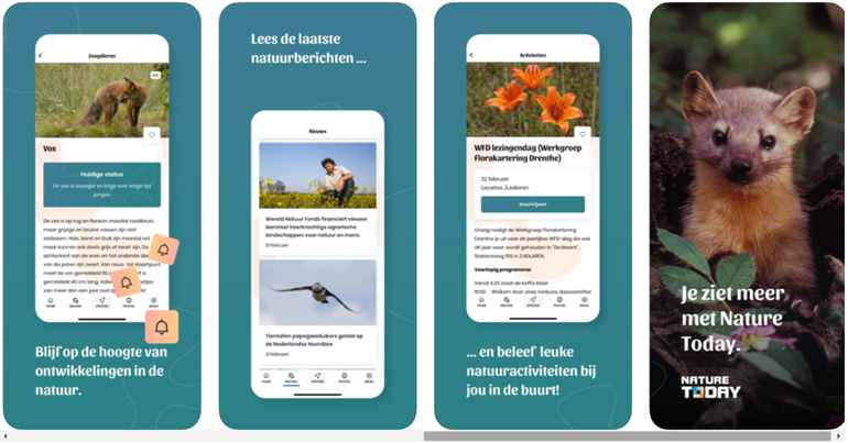 Download de Nature Today-app en ontdek de vele natuuractiviteiten