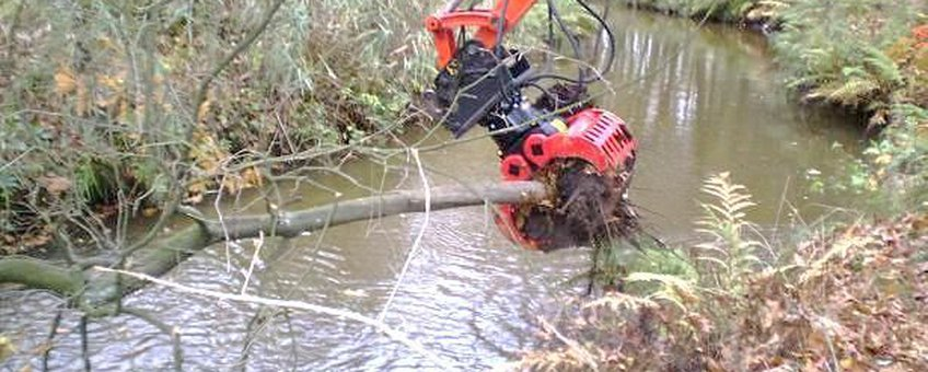 Inbrengen van dood hout in de Tongelreep in 2011