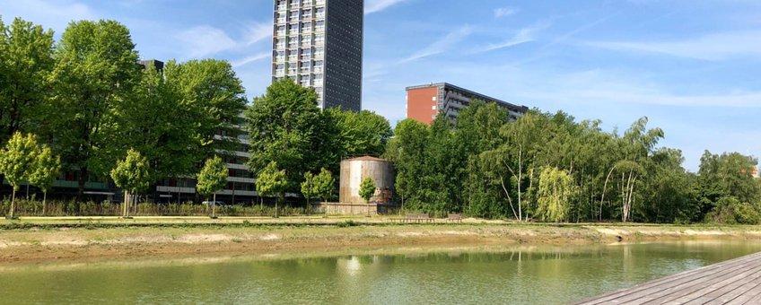 Vijver in Spoorpark Tilburg