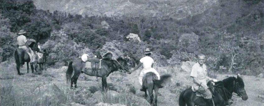 Van Groenendael tijdens een expeditie
