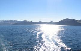 Northwest coast of Jan Mayen. Noordwestkust van Jan Mayen