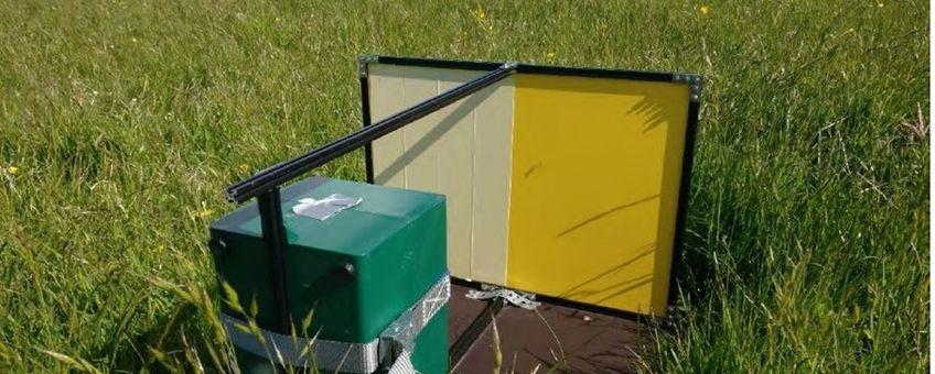 Opstelling van een automatische insecten camera