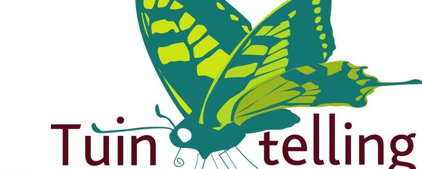 Logo Tuinvlindertelling Vlinder Mee