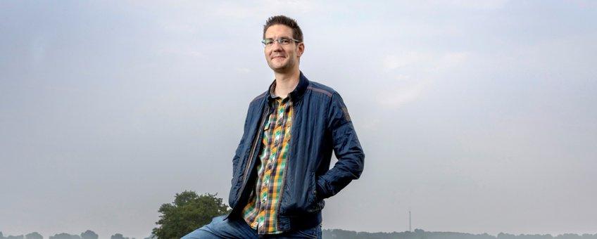 Tim Eestermans, coördinator weidevogelbescherming Drimmelen
