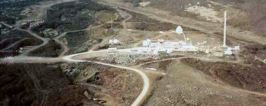 The Mauna Loa Observatory is located two miles north of the summit, at 11,135 ft elevation.     It is run by the National Oceanic and Atmospheric Administration, and known for measuring carbon dioxide.