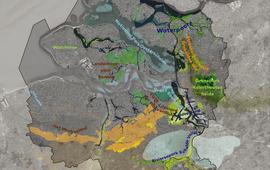 Kaart Geopark Schelde Delta