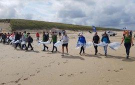 Start etappe Boskalis Beach Clean-up Tour (eenmalig gebruik WUR)
