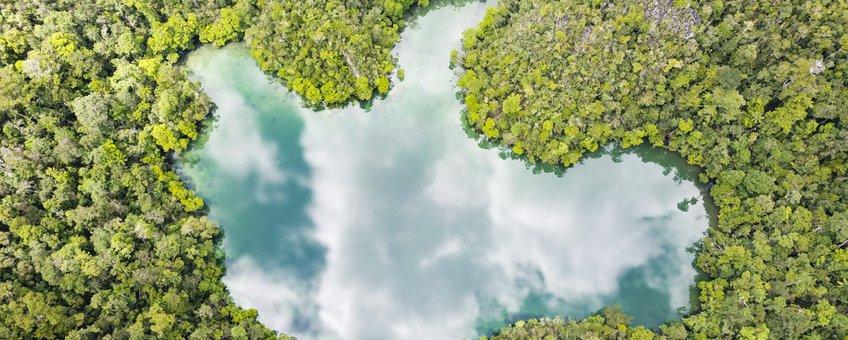 Marien meer in Indonesië