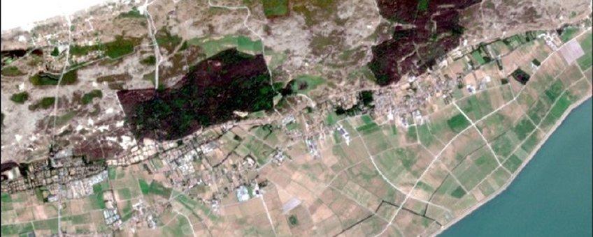 Satellietfoto van Terschelling op 15 juli 2018