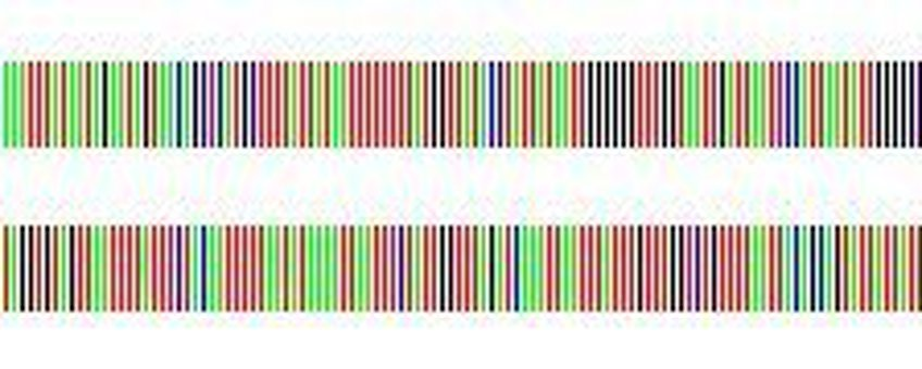 Een DNA barcode weergegeven als streepjescode