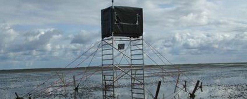 Observatietoren bij bericht waddenengine april 2012