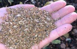 Schelpgruis voor bodemverbetering