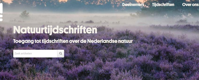 De site Natuurtijdschriften.nl biedt toegang tot ruim 80.000 natuurartikelen.
