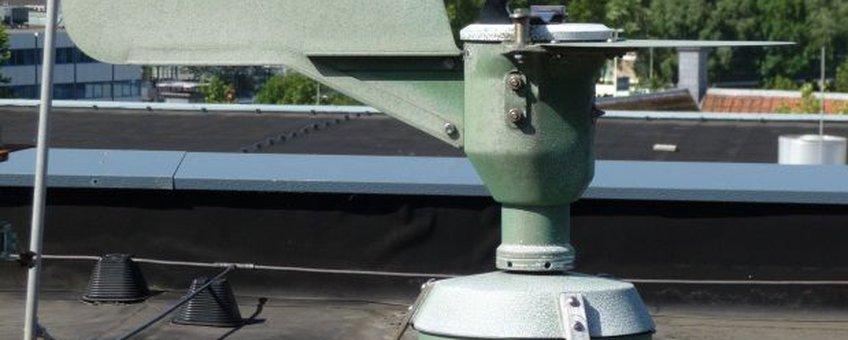 Pollenval op het dak van het Leids Universitair Medisch Centrum