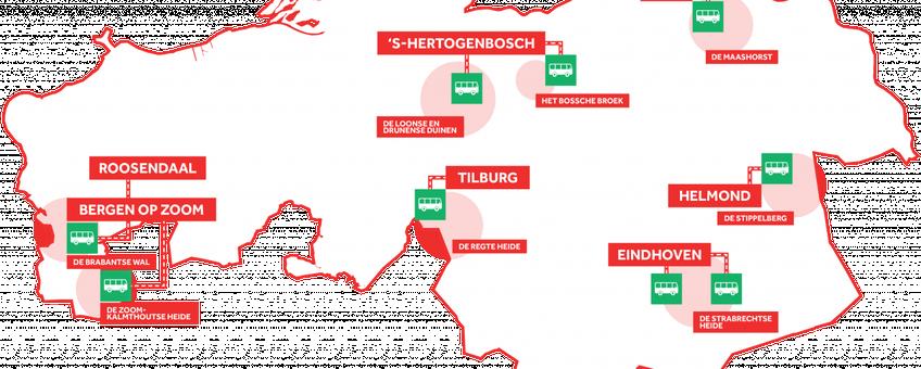 Locaties Groene Haltes op kaart