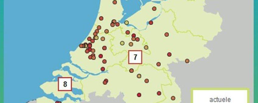 Figuur 2. Screenshot van Allergieradar.nl op 18 juni 2013