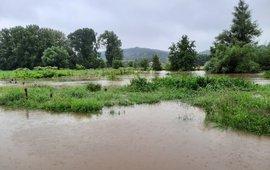 Zomerhoogwater Zuid-Limburg, juli 2021