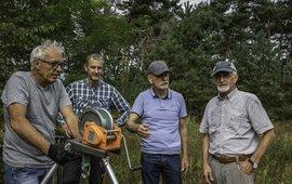De groep uitvinders op een rij: Frans Lavrijssen, Jos Hulshof, Marc Moons en Ben Putman (eenmalig gebruik)