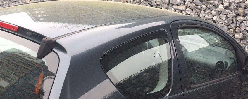 Laagje pollen op auto