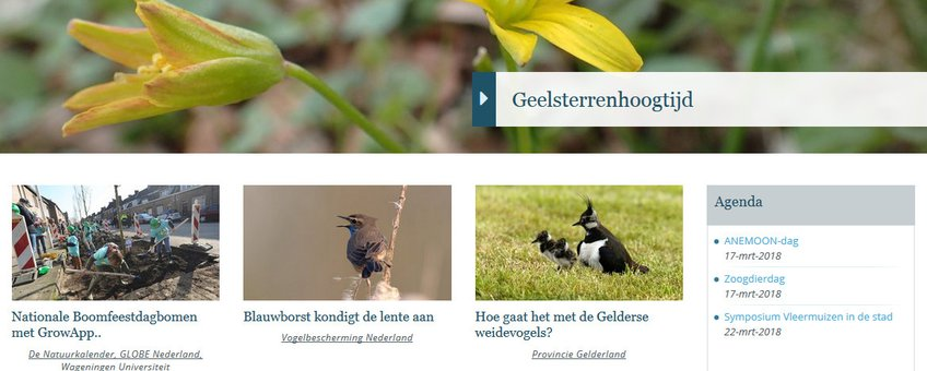 Nieuwe homepage Nature Today (13-3-2018)