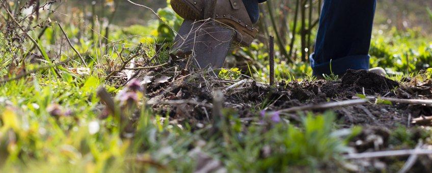 spade in de grond - eenmalig gebruik