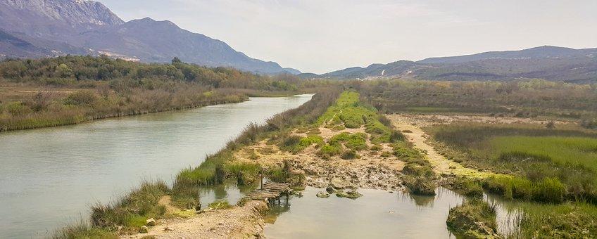 Het natuurreservaat Tivat saline