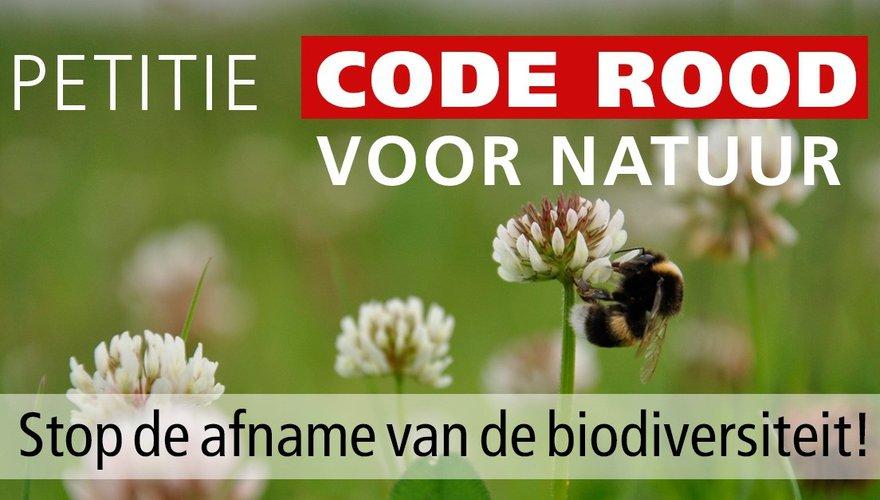 Banner Petitie Code Rood voor Natuur
