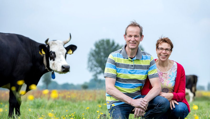 Weidevogelboer Teunis Jacob en Nelie Slob / Fred van Diem