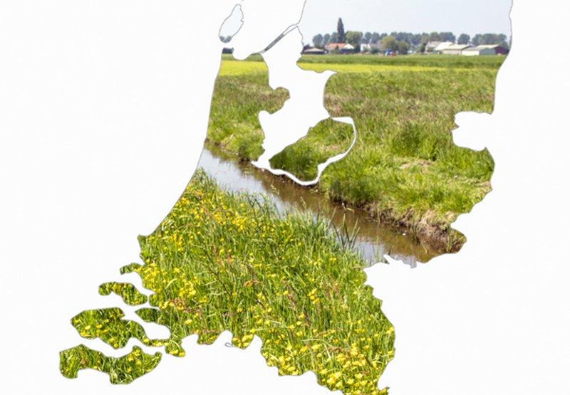 Kaart Nederland met boerenlandvogel projecten