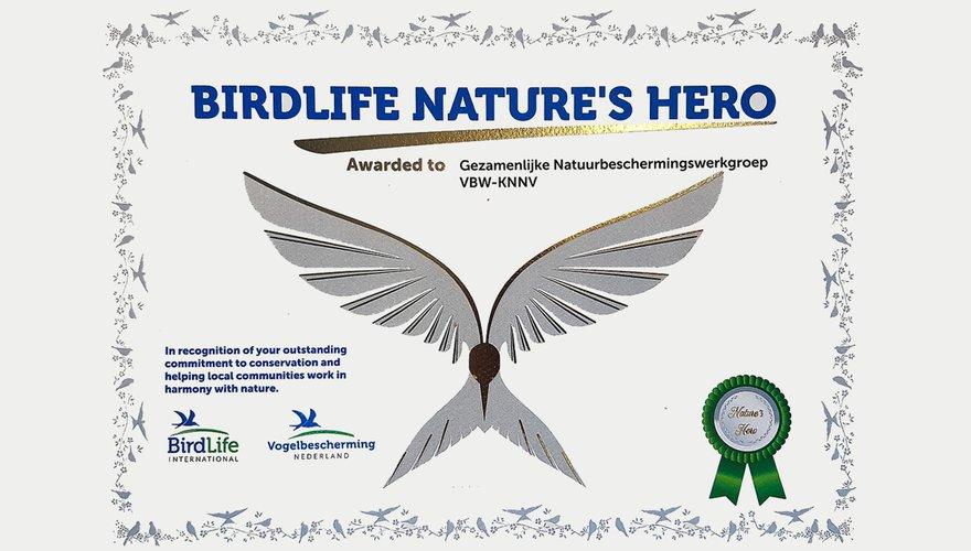 BirdLife Nature Hero Award / Hans Peeters