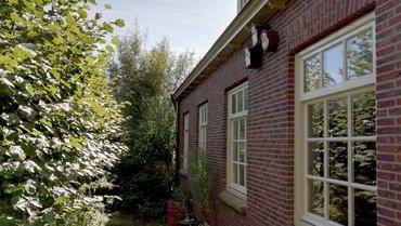 Nestkasten in de tuin van Ingeborg Lewis