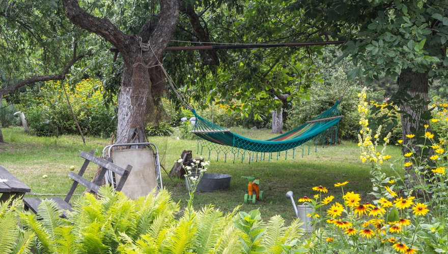 Tuin hangmat bloemen gras / Shutterstock