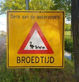 Bord broedtijd - denk aan de watervogels / Gert Ottens