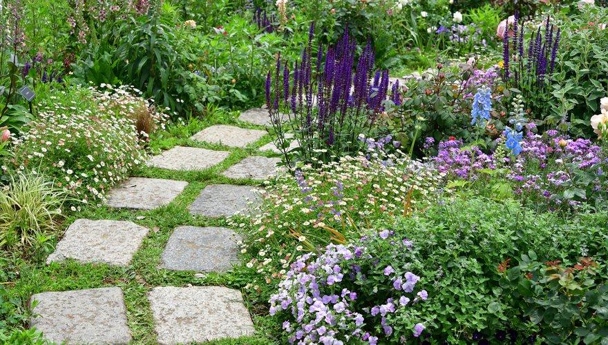Tuin met tegels / Shutterstock