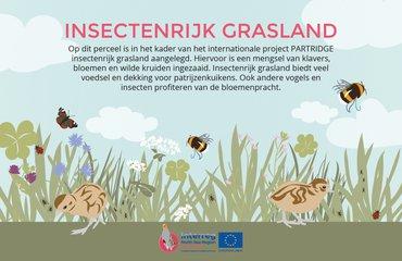 Infobord Insectenrijk grasland PARTRIDGE
