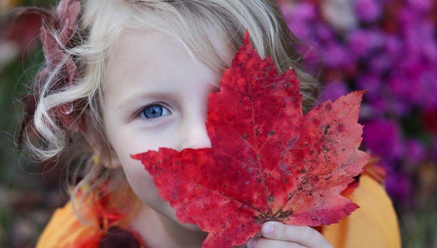 Blad herfst kind / Unsplash