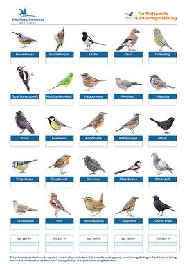 Telformulier Tuinvogeltelling