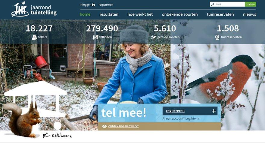 Homepage Jaarrond Tuintelling